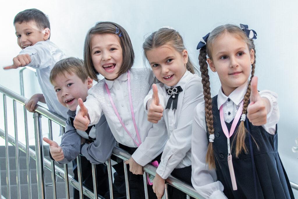 Групповой снимок для выпускного альбома начальная школа