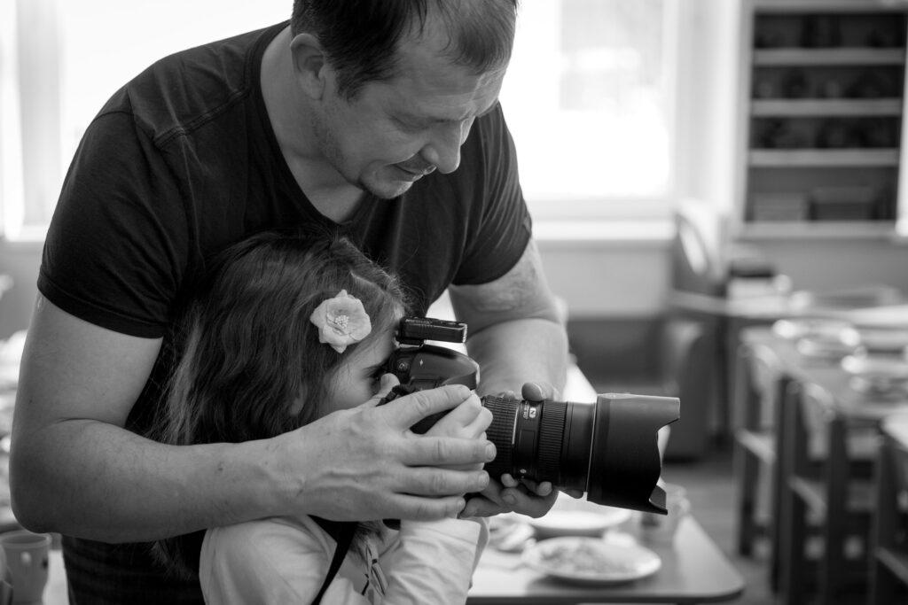 Автопортрет детский фотограф Вячеслав Беляков на съемке