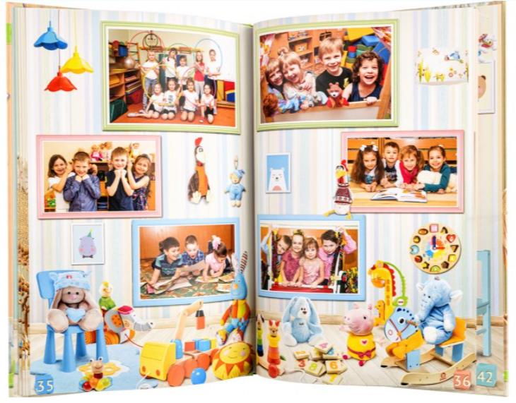 В плохом альбоме репортаж выглядит так. Мелкие группы по три - четыре ребенка и только. Полное отсутствие обработки.